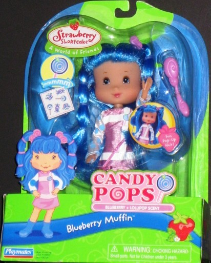 Candy Pops Doll Blueberry Muffin Blue Hair Lollipop Scented Doll