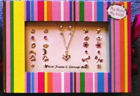 My Style My Stuff Girls Jewelry Heart Necklace Plus 14 Pairs Earrings