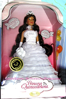 White Wedding Gown Princesa Quinceanera Doll