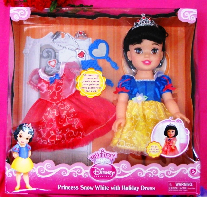 Princess Snow White Doll with Heart Necklace