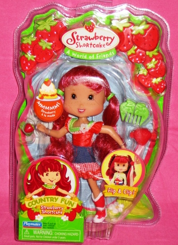 Strawberry Shortcake Doll Country Fun Red and White Check Skirt