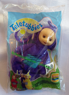 Teletubbies Puppet Tinky Winky Burger King Kids Meal Toy