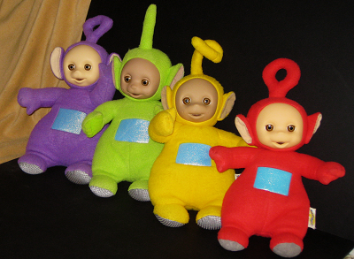 Talking Teletubbies Purple Green Yellow Red